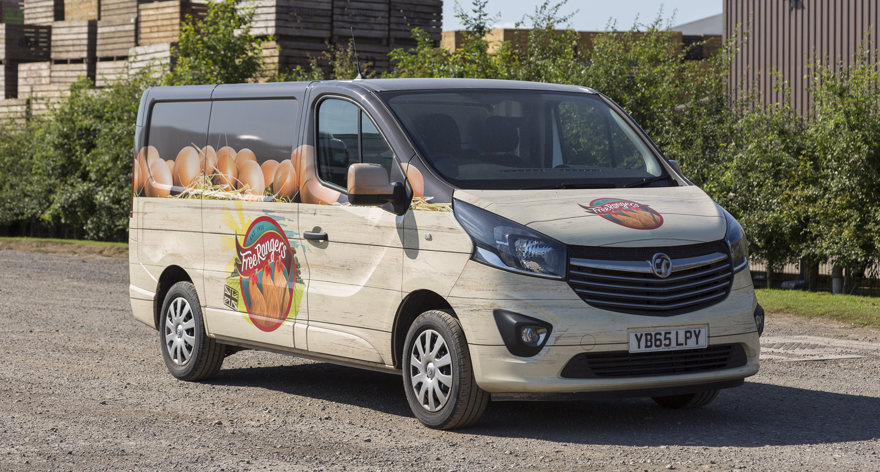 Chippindale Foods vivaro full wrap vehicle graphics side and front